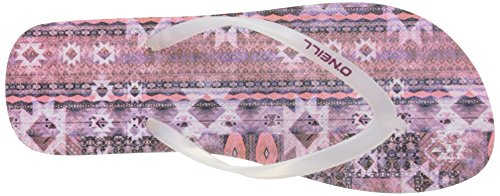 O'Neill Fw Printed Flip Flop - Chanclas Mujer Violet (Pink Aop W)