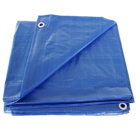 SGT KNOTS Waterproof Tarp 9 x 12 feet 5 mil Thickness - All Weather/Purpose Blue Poly Tarp - Rust-Proof Grommets - Reinforced Edges - For Camping, Hunting, Tent Fly, Painting, Canopy, Cover by SGT KNOTS