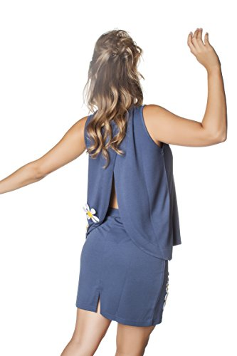 Comounaregadera Coli-Flor, Camiseta sin Mangas para Mujer Azul