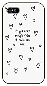 iPhone 5C If you drink enough vodka it tastes like love. Hearts - black plastic case / Inspirational and motivational