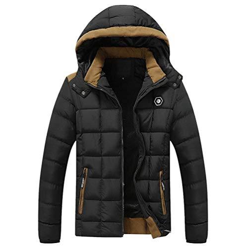 Warm Laisla Jacket Padded Rme Coat fashion Detachable Boy Windproof Thicken Plus Clásico Hood Men's Parka Down Quilted Velvet Schwarz with Winter Waterproof UzvUqw
