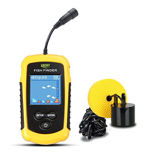 LUCKY Portable Fish Finder Fishing Sonar for Boat/Kayak Fishing Ice Fishing Sea Fishing
