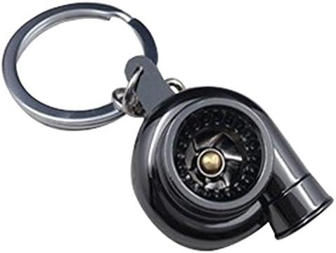 Gaoominy Porte-cles en Forme de Turbine Turbocompresseur Turbo avec Le roulement Spinning dor modeles de Pieces dauto Noir