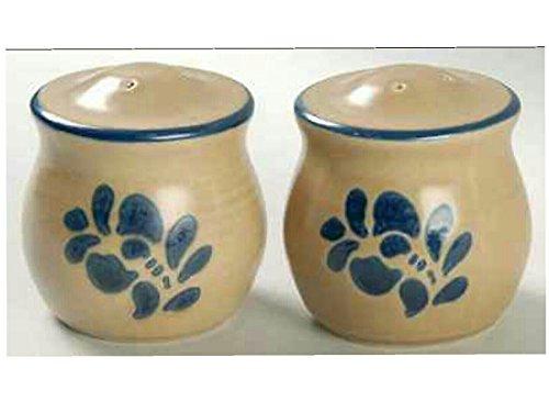 Stamps Folk Art (Pfaltzgraff Folk Art Salt & Pepper Shaker Set Stoneware Pottery USA Stamp)