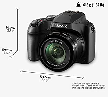 Panasonic Lumix Fz80 4k 60x Zoom Camera, 18.1 Megapixels, Dc Vario 20-1200mm Lens, F2.8-5.9, 4k 30p Video, Power O.i.s, Wifi – Dc-fz80k (Usa Black) 5