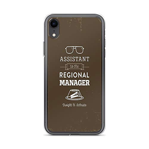 iPhone XR Case Clear Anti-Scratch The Office Dunder Mifflin - Assistant to The Regional Manager Cover Phone Cases for iPhone XR, Crystal Clear]()