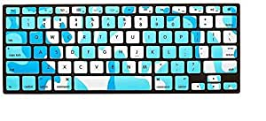Tifanny Blue Camouflage Silicone Keyboard Skin Cover For Macbook Pro Retina Air 13 13.3 15 17 Inch