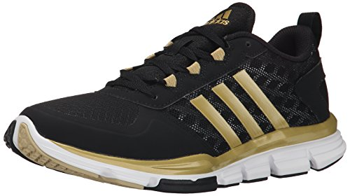 adidas Performance Herren Speed ​​Trainer 2 Trainingsschuh Schwarz / Gold Metallic / Gold Metallic