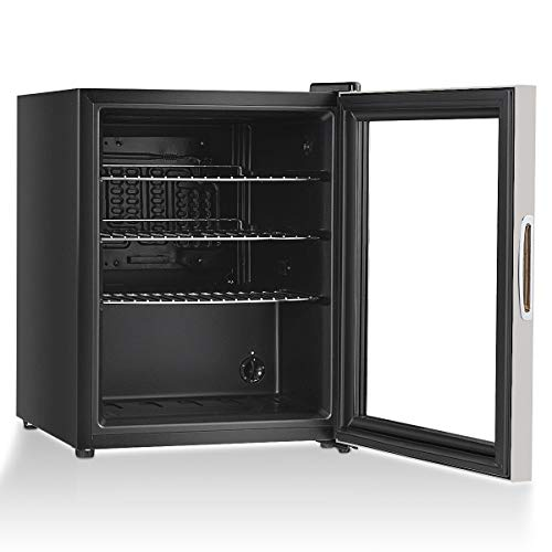 Beverage Modern - COSTWAY Beverage Refrigerator Portable Mini Beer Wine Soda Drink Beverage Cooler Black (52 Can)