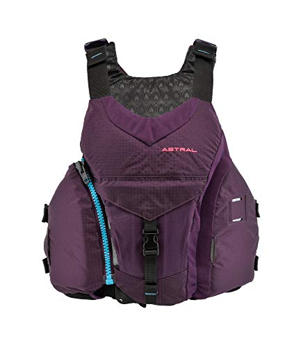 Astral Women's Layla Life Jacket PFD for Whitewater, Sea, Touring Kayaking, Stand Up Paddle Boarding, and Fishing, Eggplant, XS