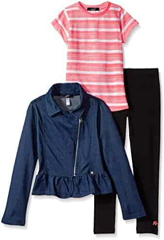Kensie Girls' Jacket, Knit Top and Legging Set (More Styles Available)