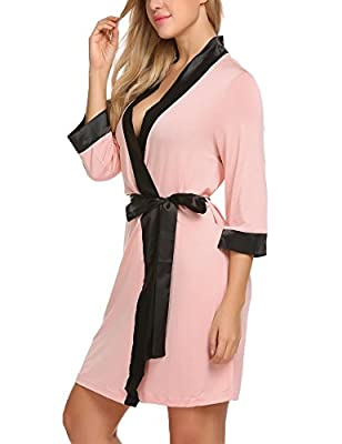 L'amore Women's Short Robe Knee Length Spa Bath Robes