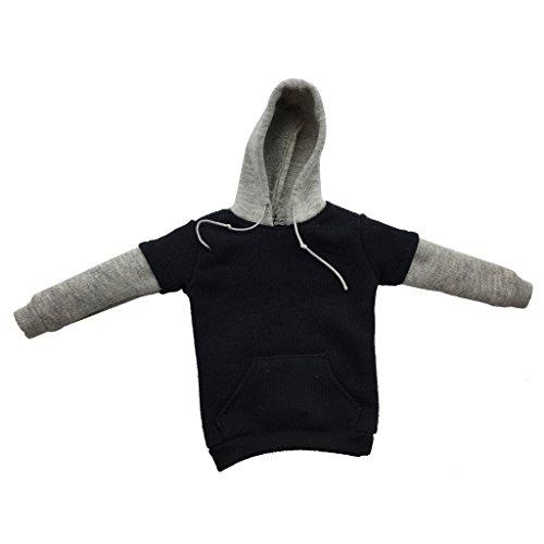 [해외]MonkeyJack 16 저울 12 ` ` 남성 그림에 대 한 블랙 & 회색 까마귀 스웨터 의류 액세서리 / MonkeyJack 16 Scale Black&Gray Hoodie Sweater Clothing Accessory For 12`` Male Figure
