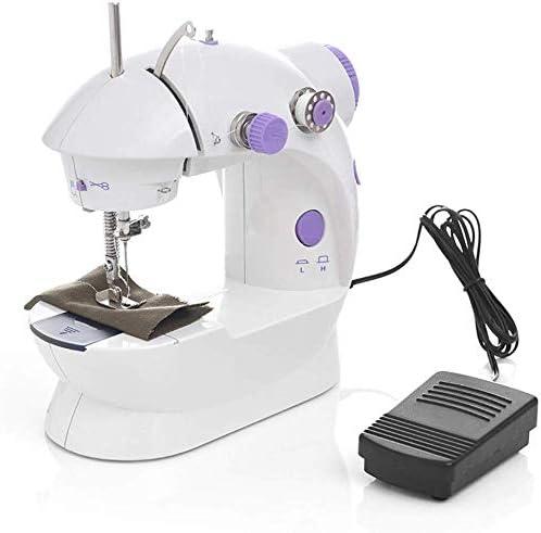 LHSUNTA Máquina de Coser portátil Mini máquina de Coser eléctrica Blanca máquina de Coser Manual para el hogar lámpara de Ajuste de Velocidad: Amazon.es: Hogar