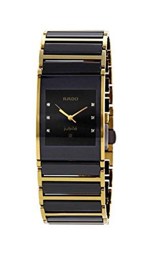 Rado Men's R20787752 Integral Black Dial Ceramic Watch - Integral Ceramic