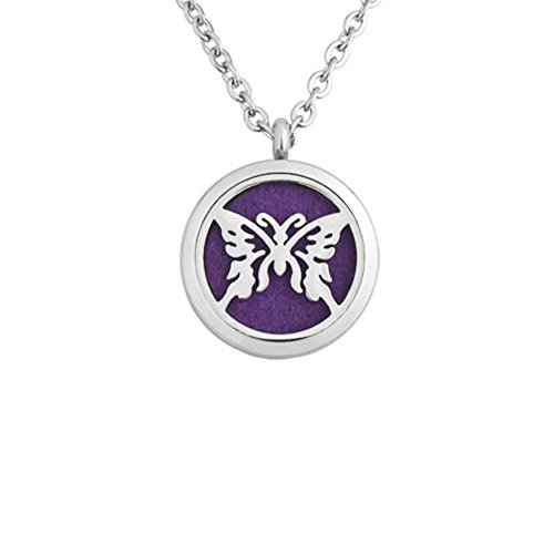 Uniqueen Butterfly Locket Pendant Aromatherapy Essential Oil Diffuser...