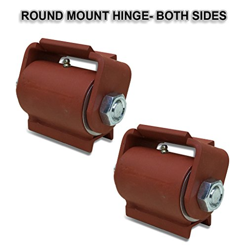 Guardian Heavy Duty Gate Hinge Round Mount Both Sides with grease fitting ( Pair )