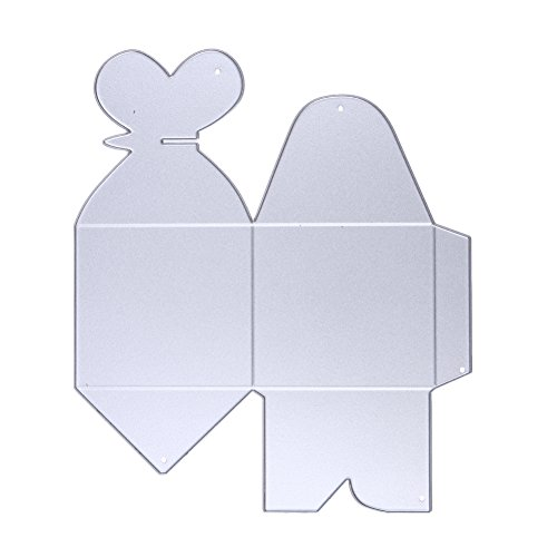 Whitelotous Scrapbooking Candy Gift Box Cutting Dies Cut Dies Stencil Metal Template Mould for DIY Scrapbook Album Paper Card (Style F) (Cube Die Cut)