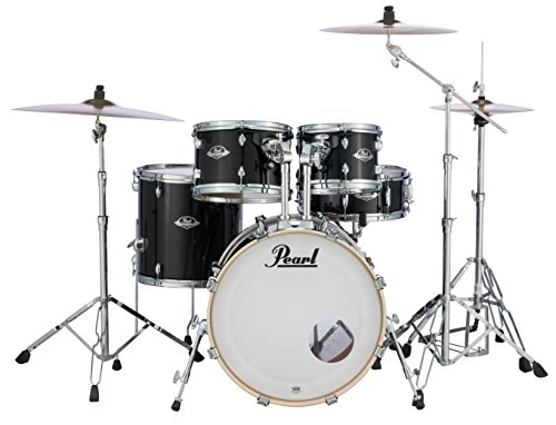 - Pearl Export 5-pc. Drum Set w/830-Series Hardware Pack, JET BLACK, inch (EXX705N/C31)