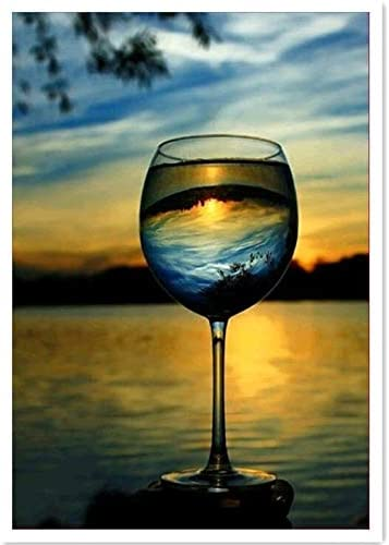 Amazon Com Diy Oil Painting Paint By Number Kit Twilight Beach Red Wine Glass 16x20 Inch Everything Else I am still trying to get. diy oil painting paint by number kit twilight beach red wine glass 16x20 inch