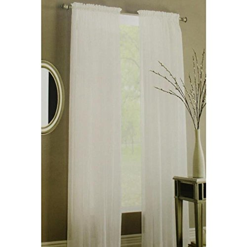 Preston One Rod Pocket Panel White 52 x 84 Window Treatment Panel