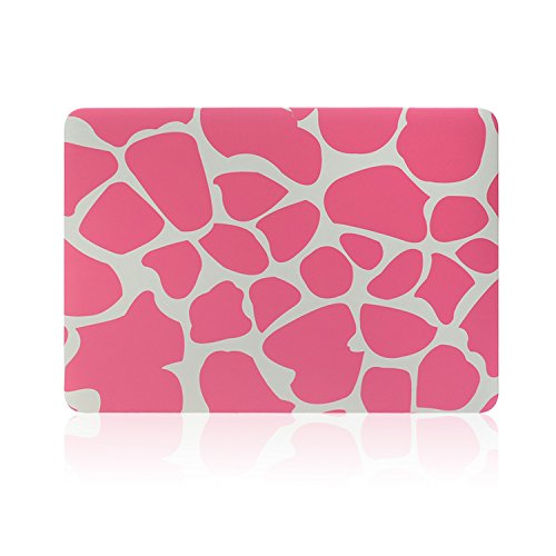 """2 in 1 Macbook Pro 15 Retina Display Case TECOOL® Frosted Matte Snap-on hard Shell Plastic Case Cover Skins and Silicone Keyboard Cover with TECOOL® Mouse Pad for MacBook Pro 15"""" With Retina Display Model: A1398(Pink Cow)"""
