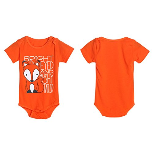 72d8feb62 IGEMY Newborn Infant Baby Boys Girls Fox Letter Print Romper ...