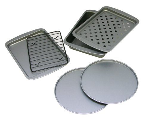OvenStuff Non-Stick 6-Piece Toaster Oven Baking Pan Set (Small Oven Cookware compare prices)