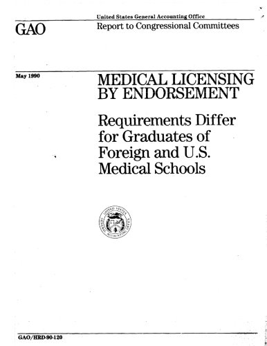 Medical Licensing By Endorsement: Requirements Differ for Graduates of Foreign and U.S. Medical Schools