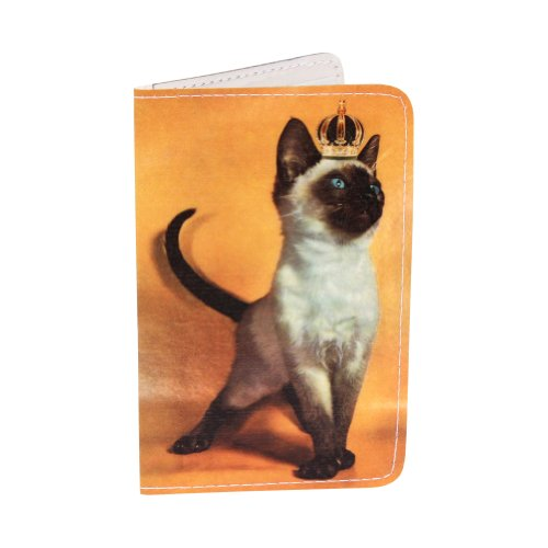 Golden Royal Siamese Kitty Business, Credit & ID Card (Kitty Business Card)