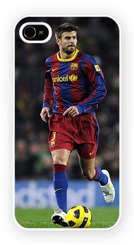 Gerard Pique Football iPhone, iPhone 4 4S, Etui de téléphone mobile - encre brillant impression