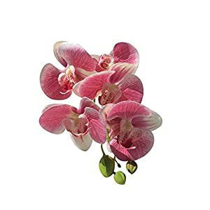 shengyuze 1Pc Artificial Flower Butterfly Orchid DIY Stage Party Festival Office Decor Lifelike Fake Flowers 91
