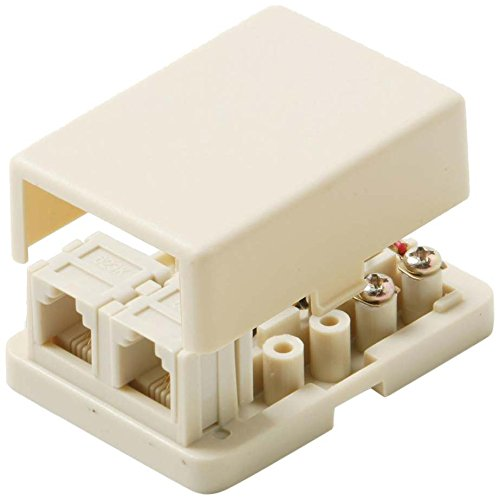 Steren 4-conductor Dual Surface Jacks-white 300-146