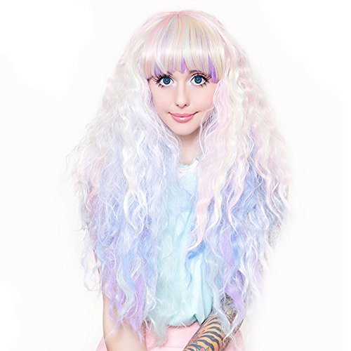 Halloween Wigs Houston Tx (Gothic Lolita Wigs® RhapsodyTM Collection - Pastel Rainbow)