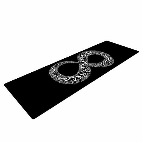 Kess InHouse Barmalisirtb Infinite Black White Digital Mat, Black, 72