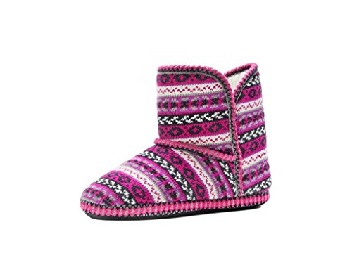 MUK LUKS Women's Short Boot Purple Boot MD (US Women's 7-8) M