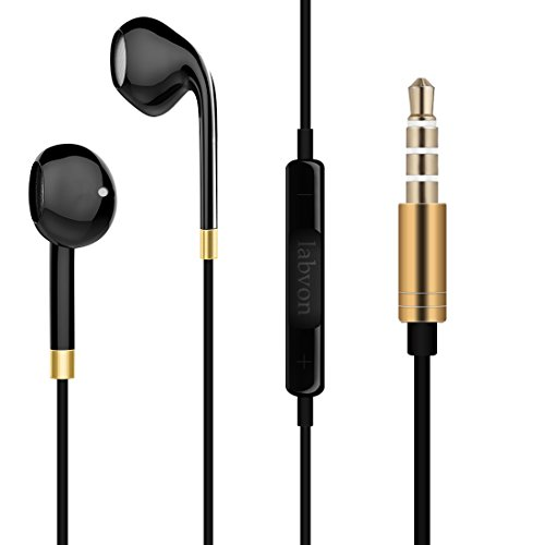 Labvon Wired Earphones High-Fidelity build in Microphone (black)