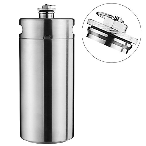 Cool Bank Stainless Steel Mini Beer Keg Growler 128 OZ