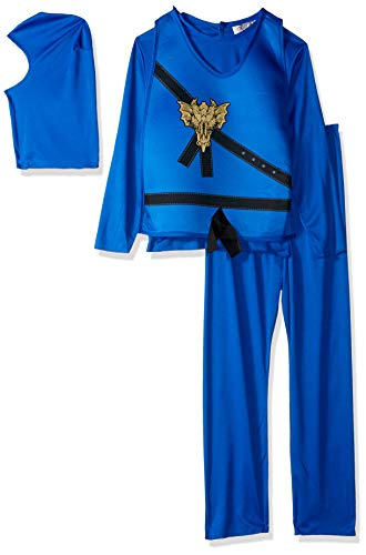 (Charades Child's Ninja Avenger Costume, Blue,)