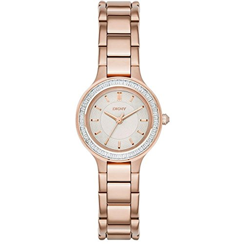 DKNY Women's NY2393 CHAMBERS Rose Gold-Tone Stainless Steel Watch with Crystal Bezel
