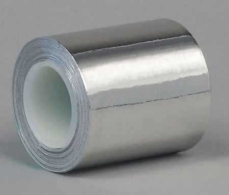 Foil Tape, 1 In. x 3 Yd, Stainless Steel