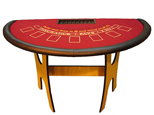 (ACEM Casino supplies 60 Inch Oak Blackjack Table - Made in The USA)