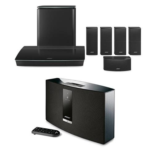 Bose Lifestyle 600 Home Theater System with Jewel Cube Speakers, Black - With Bose SoundTouch 20 Series III Wireless Music System by Bose
