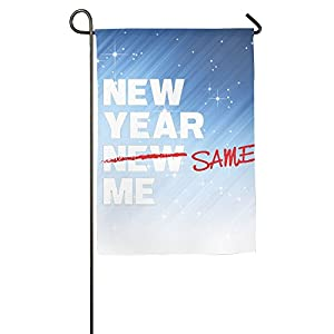 Weiheiwec 9 New Year Same Me Home Flag Garden Flag Demonstrations Flag Family Party Flag Match Flag 1827inch