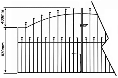 Manor Arched Ball Top Driveway Gates 2743mm 9ft GAP x 1220mm High galvanised wrought iron dual swing metal gate MAZP16