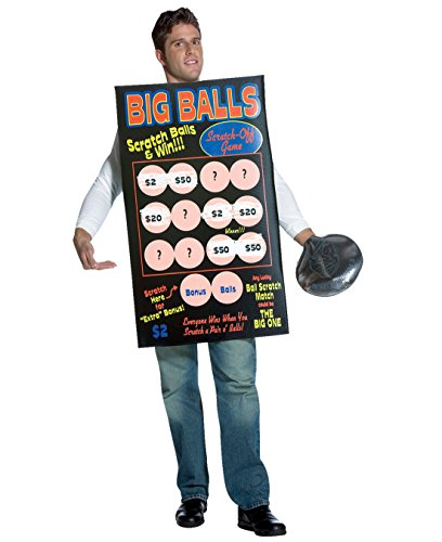 Big Balls Scratch Off Lottery Ticket Theatre Costumes Sizes: One Size - Big Balls Scratch Off Costumes