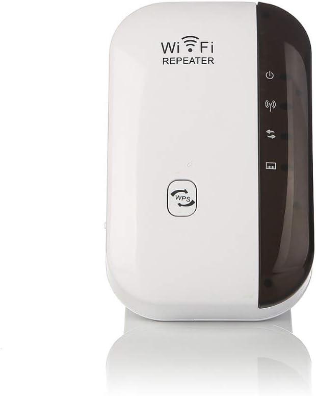 MINGRONG Amplificador de señal de 300 Mbps Amplificador de WiFi Amplificador de WiFi Rango inalámbrico Amplificador de señal de Internet Repetidor