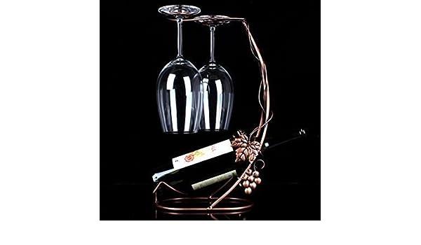 DW&HX Ideas europeas del vidrio de vino rojo en rack Botella de vino Kit rack Estante del vidrio de vino elegante y minimalista-A: Amazon.es: Hogar