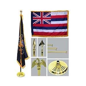US Flag Store Hawaii 4ft x 6ft bandera telescópica de golf base y borla