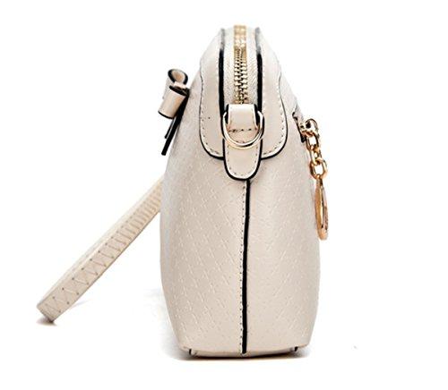 Shoulder Katoony Double Crossbody Bag Zip Mini Womens Use Shell PU with Beige Handbag Bag Bow Single Fashion qz0qxrf